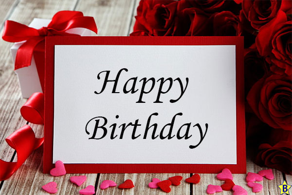 Happy birthday red rose images