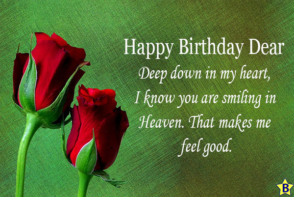 Happy birthday rose images in heaven