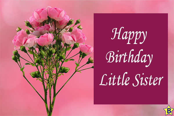 Happy birthday rose images little sister