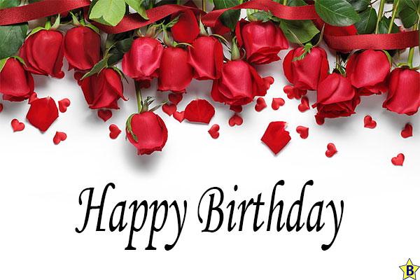 Happy birthday rose images