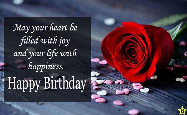 Happy birthday single rose Wishes