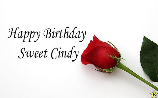 Happy birthday sweet cindy