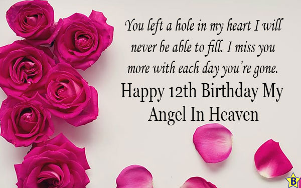 happy 12th birthday in heaven for daughter