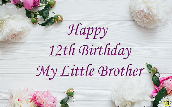 happy 12th birthday little brother