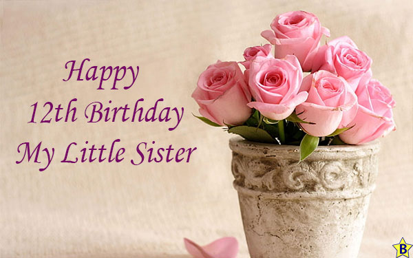 happy 12th birthday little sister
