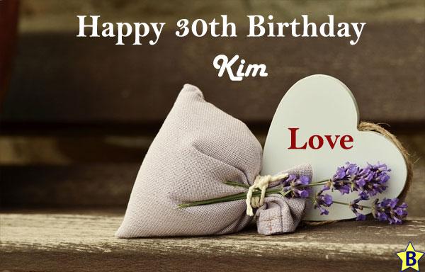 happy 30th birthday images kim