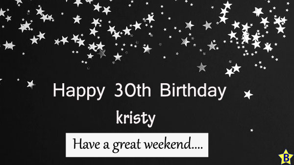 happy 30th birthday images kristy