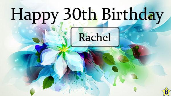 happy 30th birthday images rachel