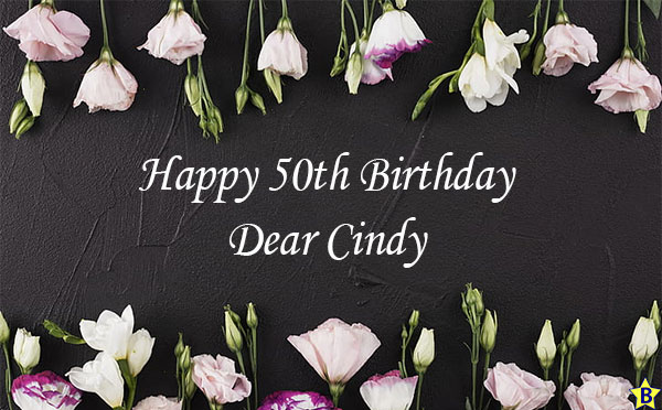 happy 50th birthday cindy images