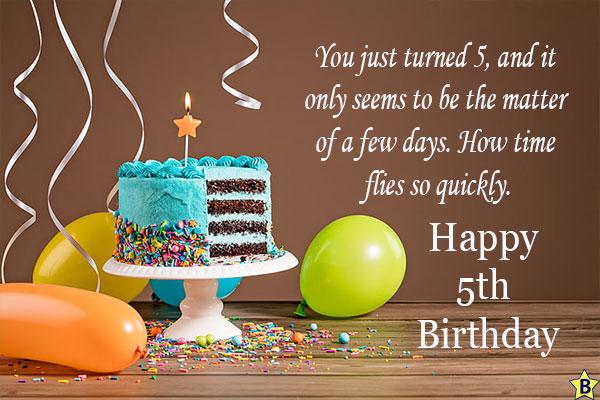happy 5th birthday cake