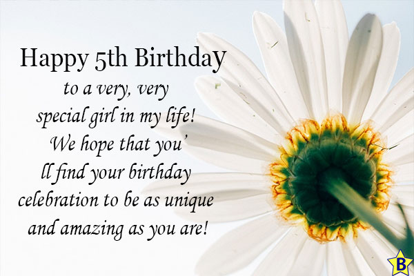 happy 5th birthday girl quotes
