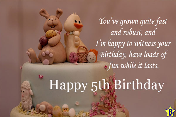 happy 5th birthday granddaughter quotes