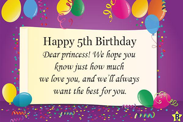 happy 5th birthday princess