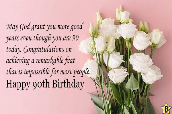 happy 90th birthday flowers