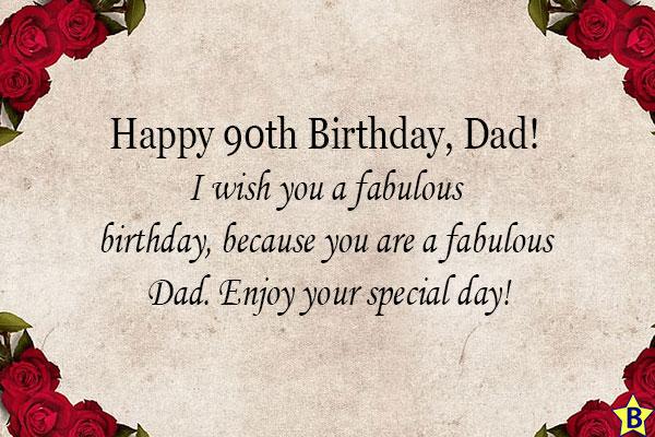 happy 90th birthday qutes for dad