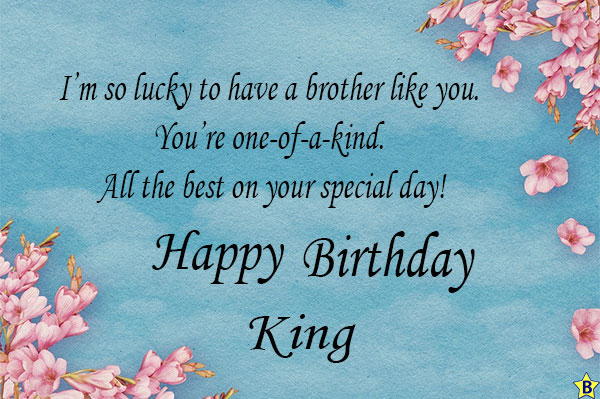 happy birthday brother king images