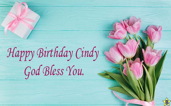 happy birthday cindy god bless you