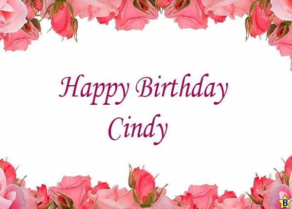 happy birthday cindy images
