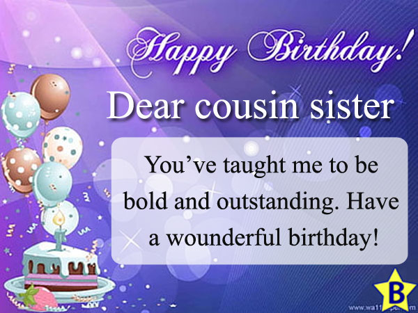 happy birthday cousin sister images