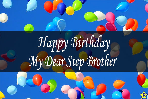 happy birthday dear step brother images
