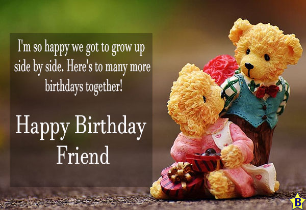 happy birthday friend wishes lines