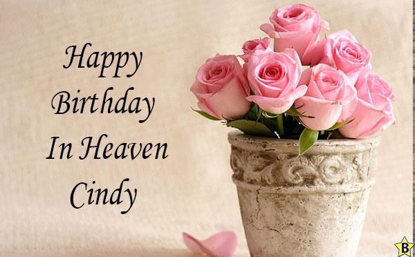 happy birthday in heaven cindy