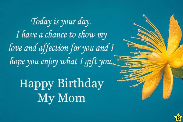 happy birthday mom yellow flowers