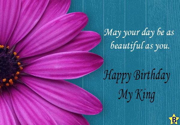 happy birthday my king messages