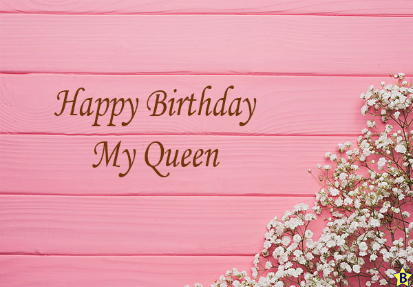 happy birthday my queen in english