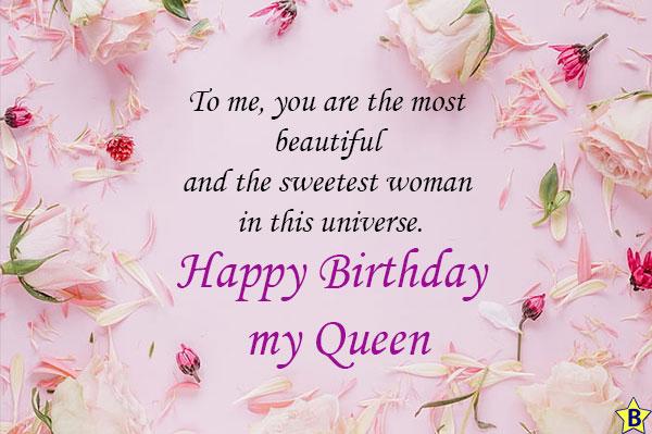 happy birthday my queen quotes