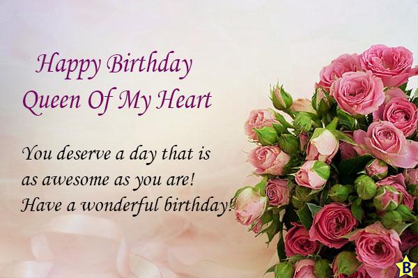 happy birthday queen of my heart images
