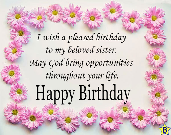 happy birthday religious images for sister