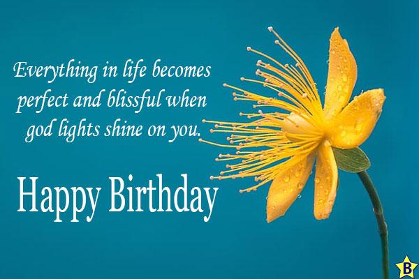 happy birthday religious yellow flower images