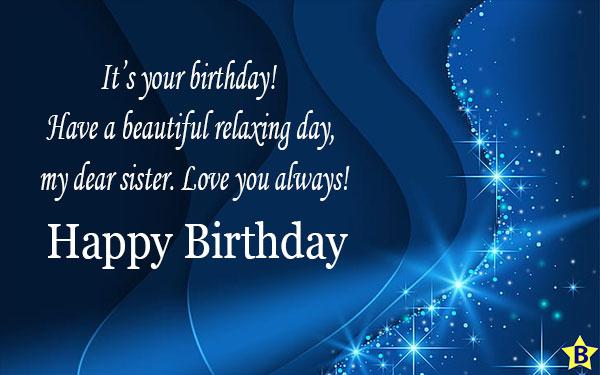 happy birthday sister english wishes