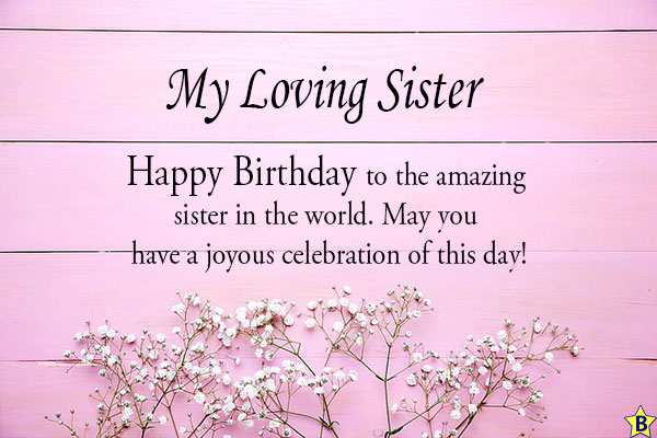 happy birthday sister messages