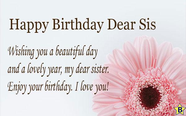 happy birthday sister two line status