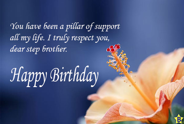 happy birthday step brother images hd