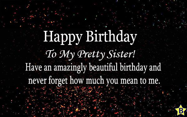 happy birthday to my pretty sister