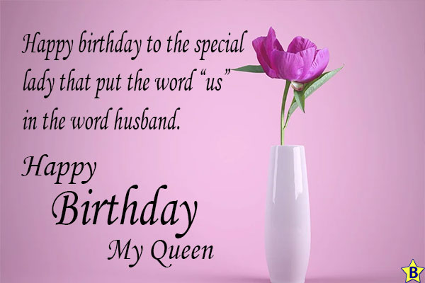 happy birthday wife card message