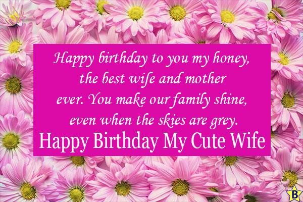 happy birthday wife status