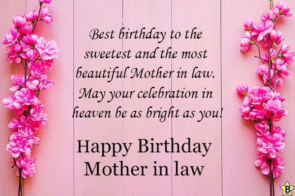 heart touching birthday wishes for mother-in-law in heaven