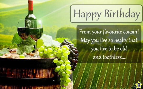 wine happy birthday cousin images
