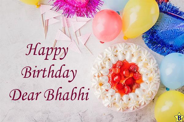 Birthday wishes for Bhabhi cake