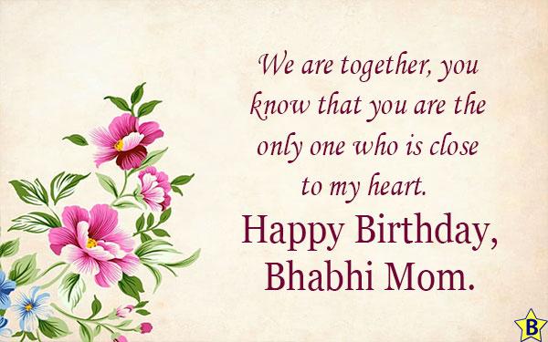 Birthday wishes for Bhabhi mom