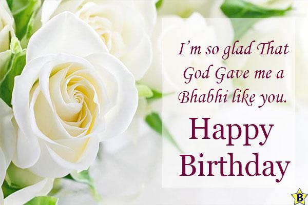 Birthday wishes for Bhabhi one line
