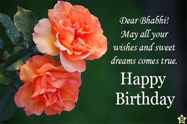 Birthday wishes for Bhabhi pics