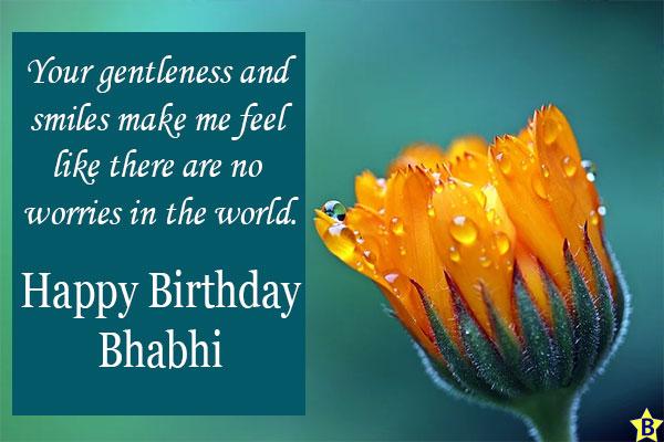 Birthday wishes for Bhabhi quotes