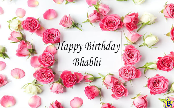 Birthday wishes for Bhabhi with rose
