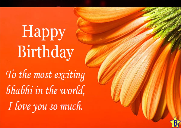 Birthday wishes love u bhabhi