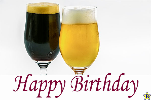 Happy Birthday Beer Images two glasses